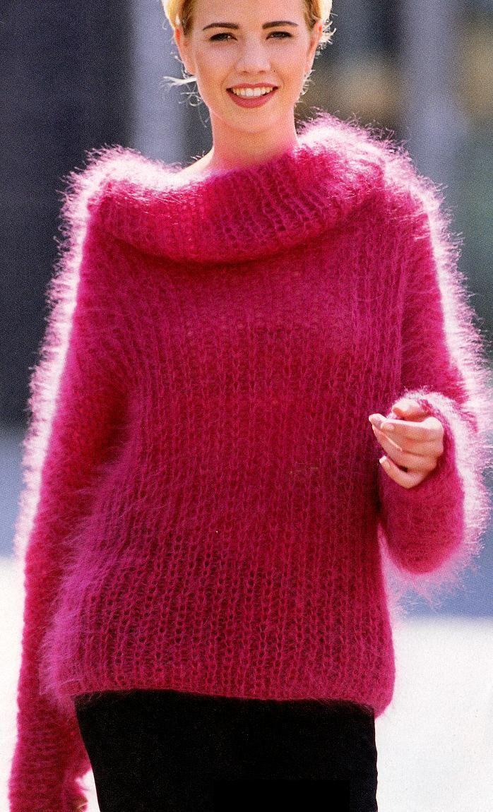 mohair sweater ~ inspiration only | Tejido en dos agujas | Pinterest ...
