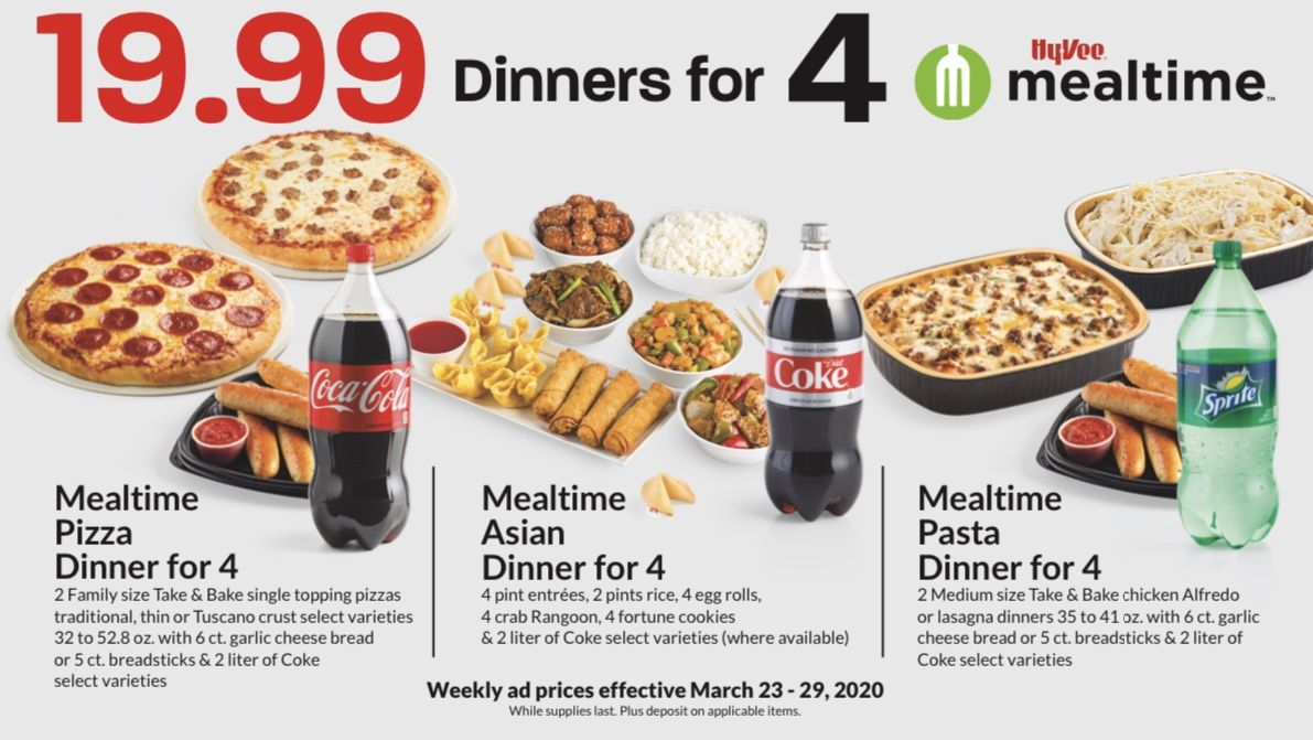 New 19 99 Mealtime Dinners For 4 Meal Time Family Meals Asian Pasta