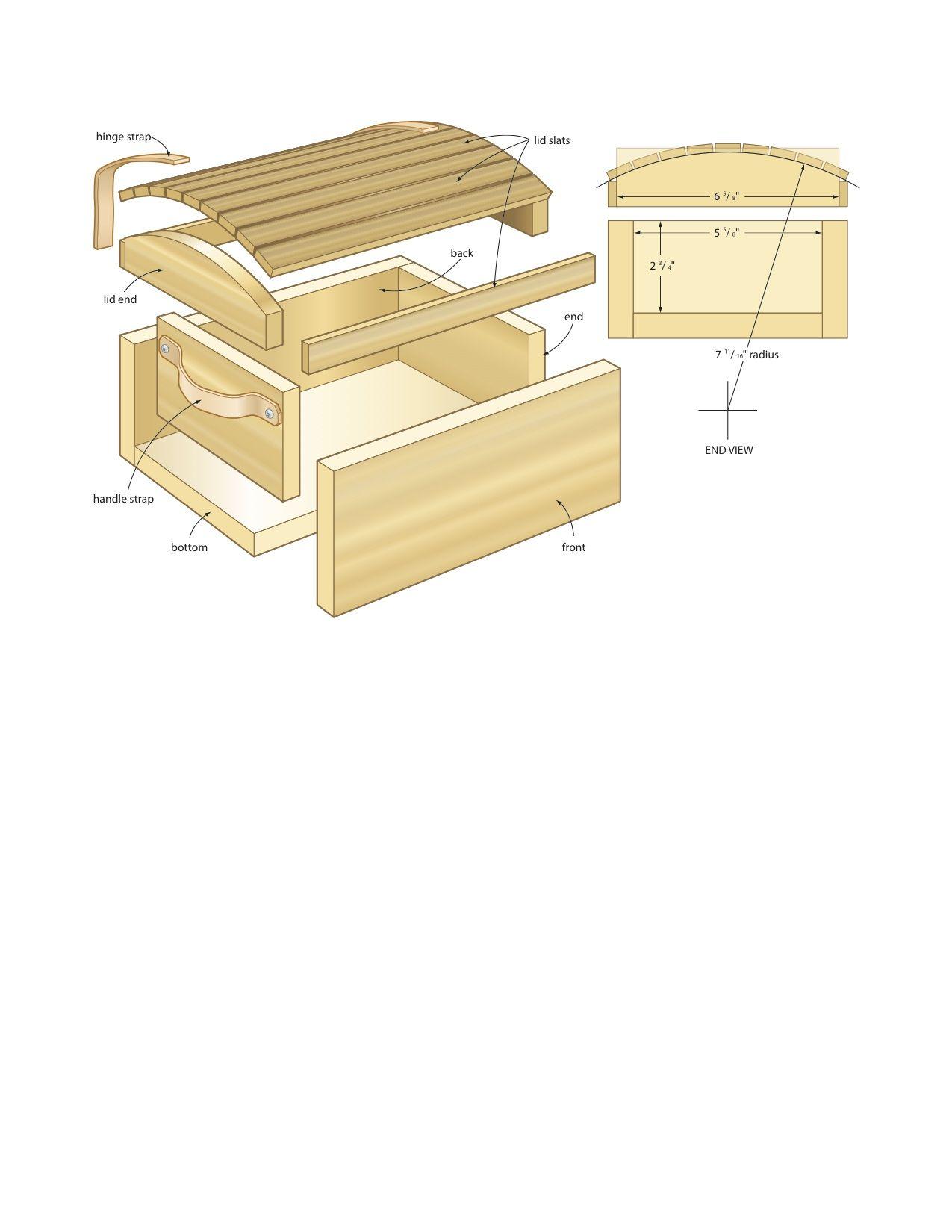Wooden pirates chest plans diy blueprints pirates chest for Box blueprint maker