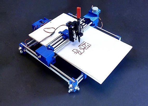 Xy plotter pen drawing robot pcb writing machine