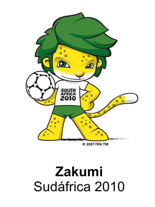 zakumi sud225frica 2010 mundiales de f250tbol pinterest