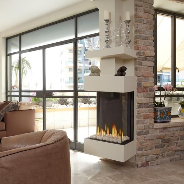 3 sided fireplace | 3 Sided Fireplaces | Pinterest | Living rooms ...