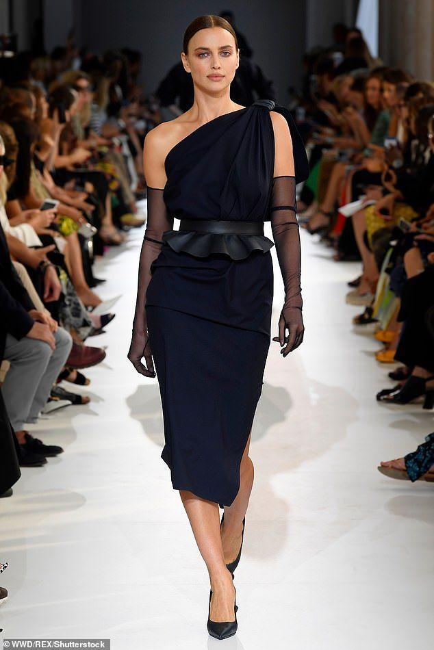 d73e823493983 Irina Shayk smoulders at Max Mara show during Milan Fashion Week   Daily  Mail Online