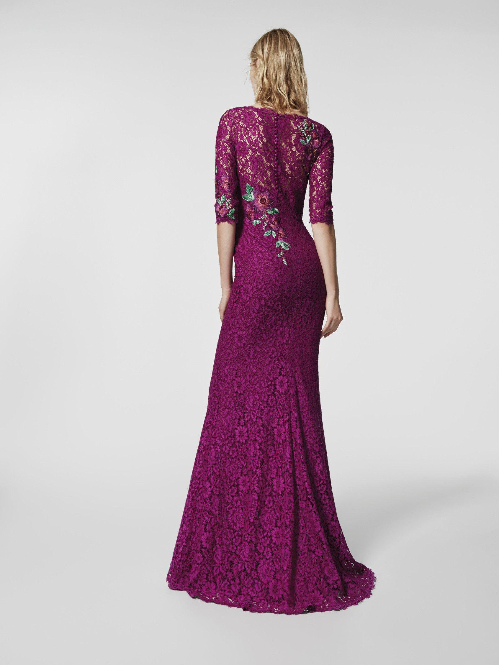 Imagen del vestido de fiesta rosa (62078). Vestido GLADIOLO largo ...
