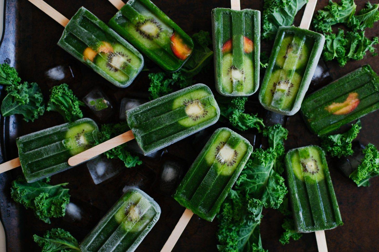 Grüner Smoothie Pops |  Golubka Küche