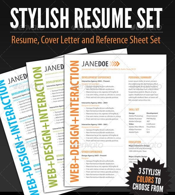 Stylish Resume Templates  Graphics Inspiration  Resources