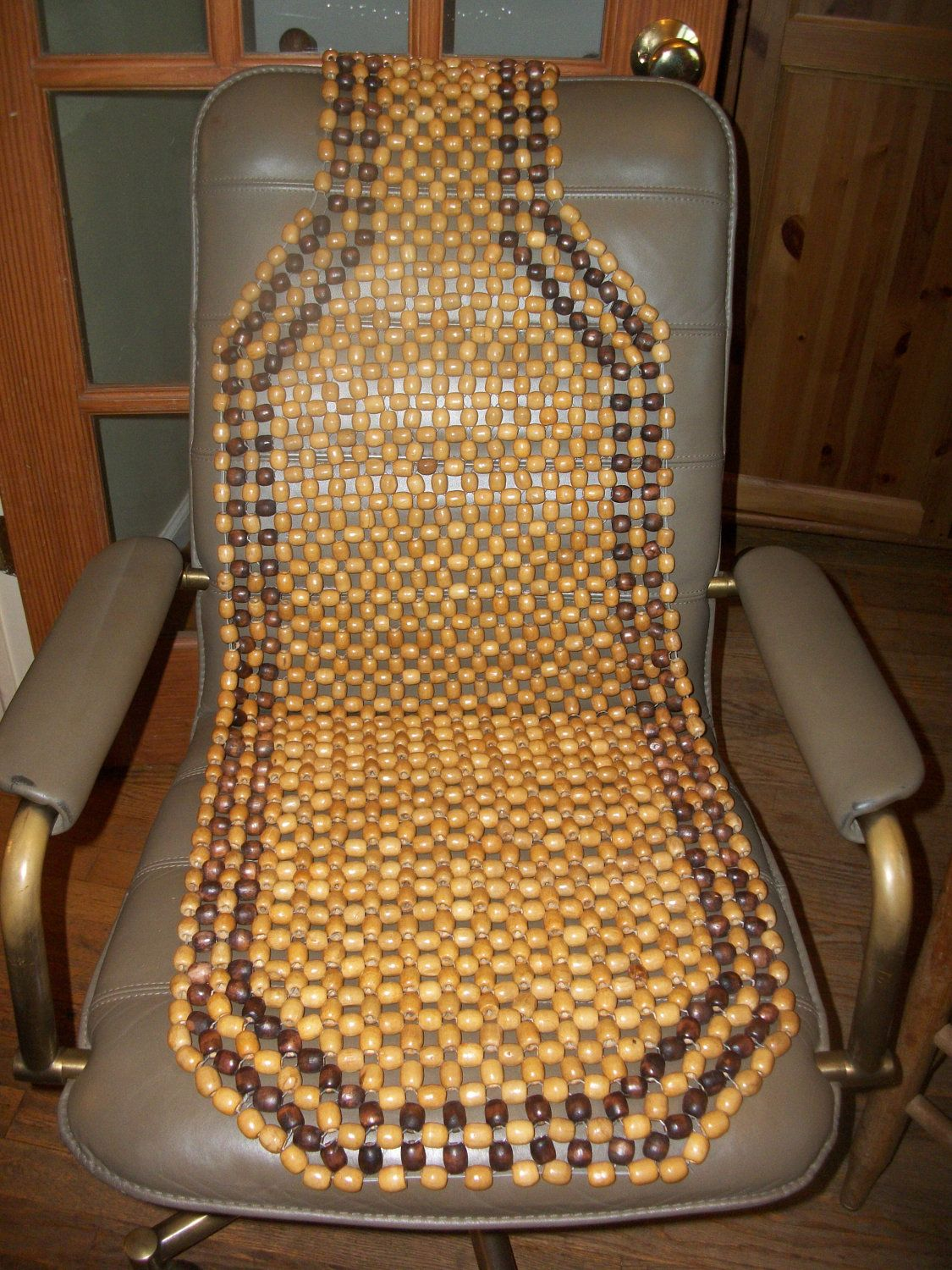 Wooden Bead Car Seat Cover