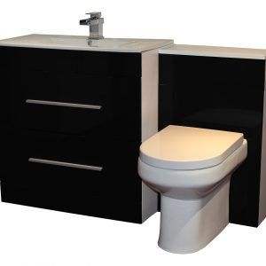 Basin Wc Combination Units Willesden Bathrooms Throughout Sizing 1000 X  1231 Black Vanity Units For Bathroom   A Good Looking Bathroom Vanity Can  Completel