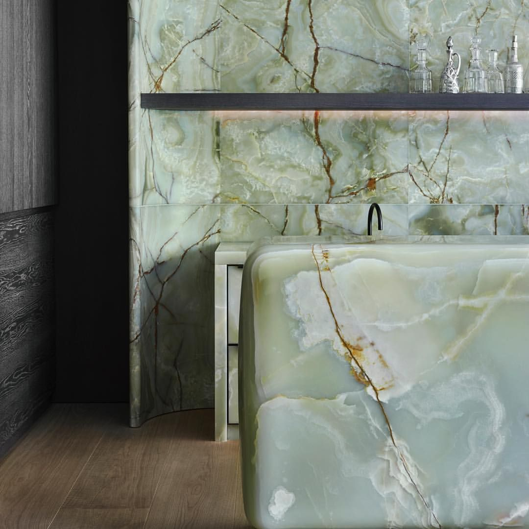 Green Onyx Kitchen In An Interior Architecture Project In Munich