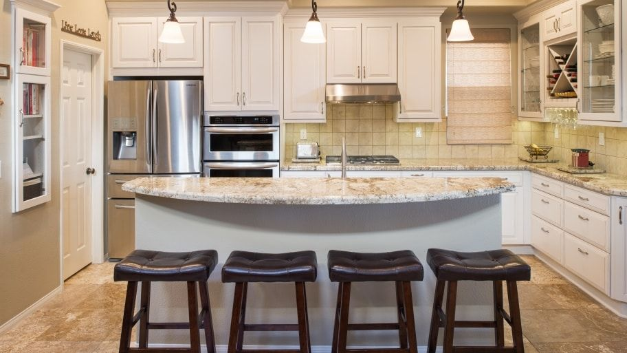 Transitional Kitchen Elements Explained Curved Kitchen Island
