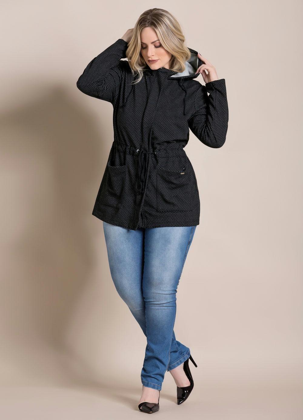 4d47a99ee Calça Jeans Cintura Alta Quintess Plus Size - Quintess | parka ...