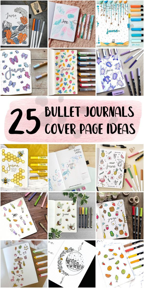 Aesthetic Bullet Journal Cover Page Set Up Inspo June 2020