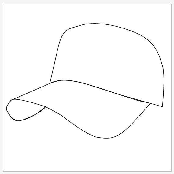 how to draw a baseball cap   Illustrator Templates   Pinterest ...