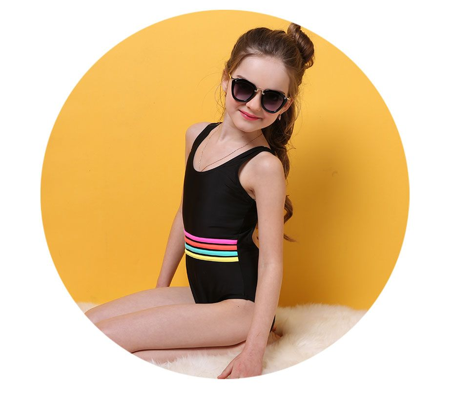 a4f3802176677 Girl's swimwear one piece swimsuit| girls solid swimwear sports bodysuit  beachwear children swim suits bathing suit