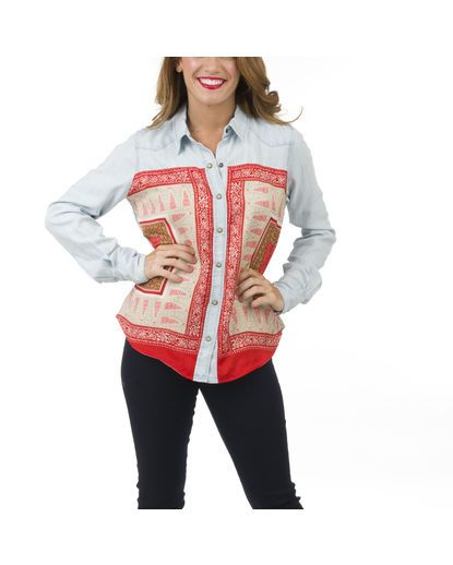 Women's Dixie Scarf Chambray Top