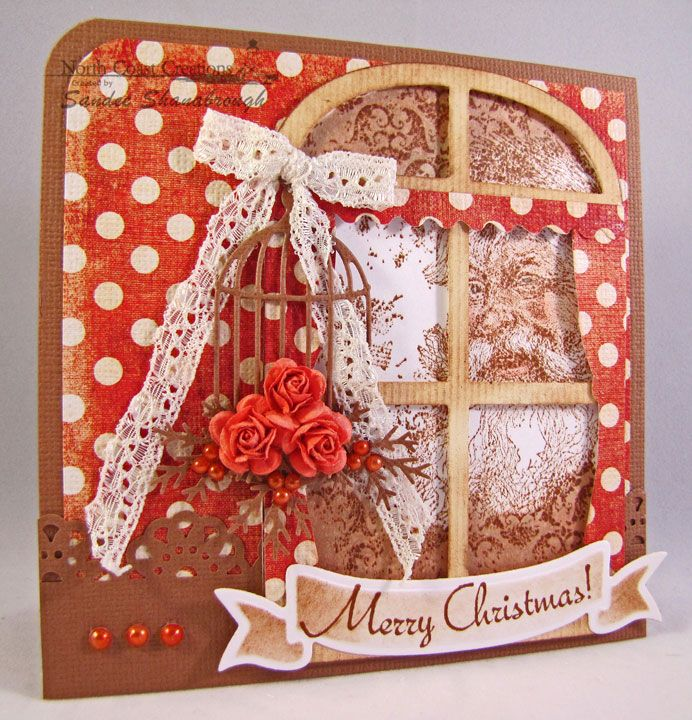 Merry Christmas (Santa in the window) - http://simplysouthernsandee.blogspot.com/