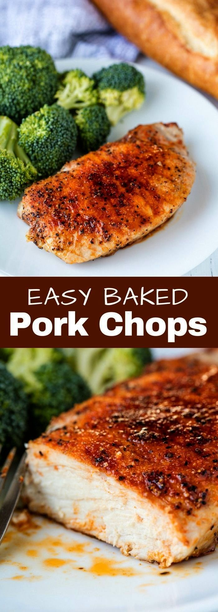 Baked Pork Chops These Easy Baked Pork Chops only require a few spices to really make them stand ou