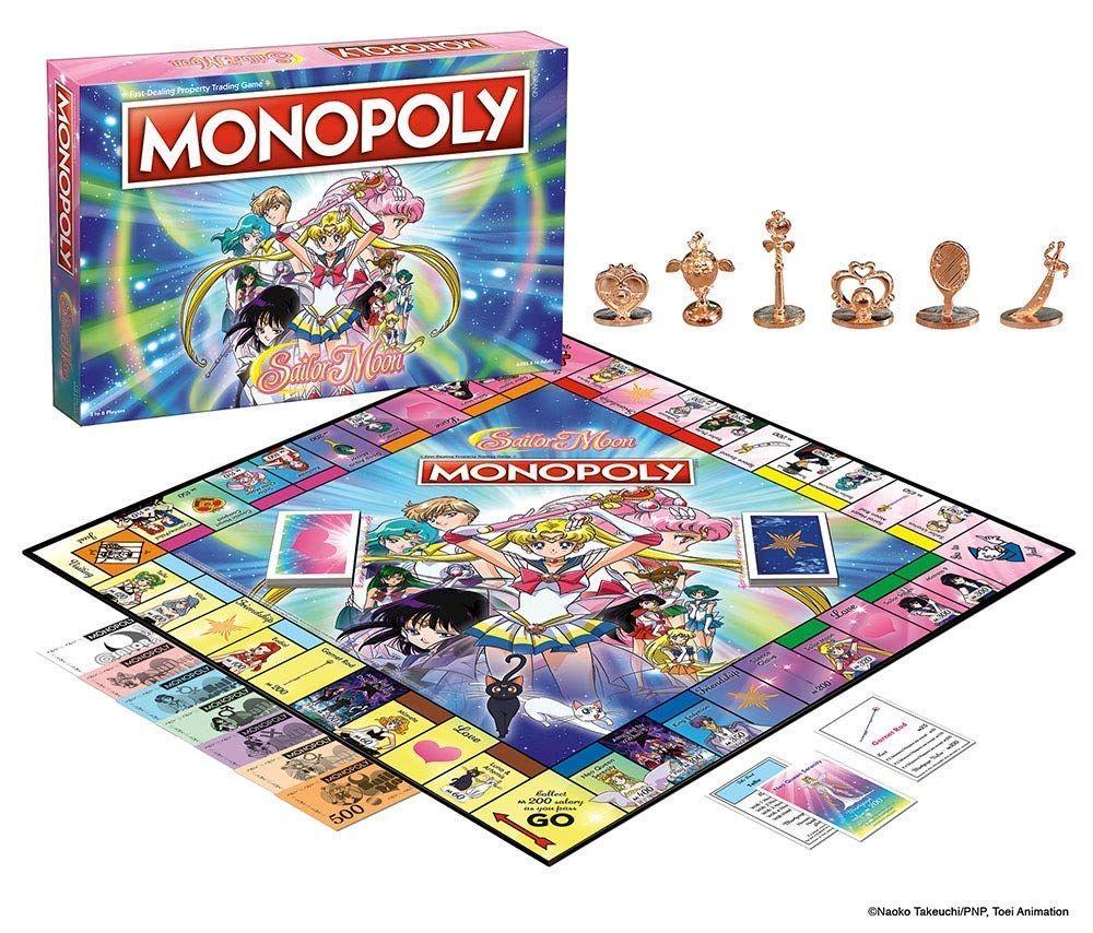 O Monopoly Agora Tem Uma Edicao Especial Das Navegantes Da Lua Monopoly Sailor Moon S Sailor Moon