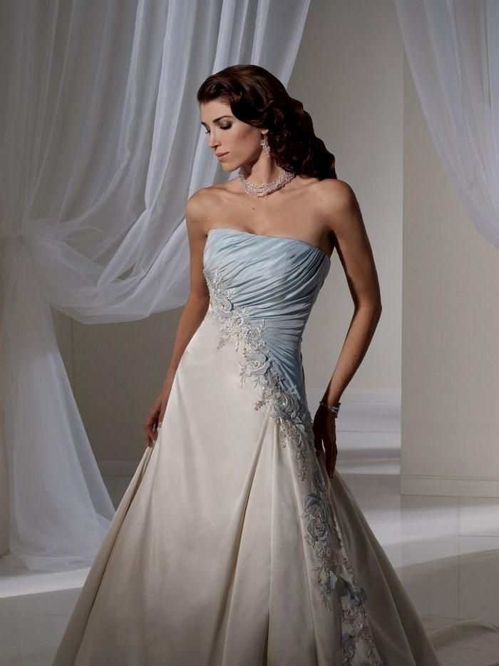 light blue and white wedding dress Naf Dresses | Wedding dress ...