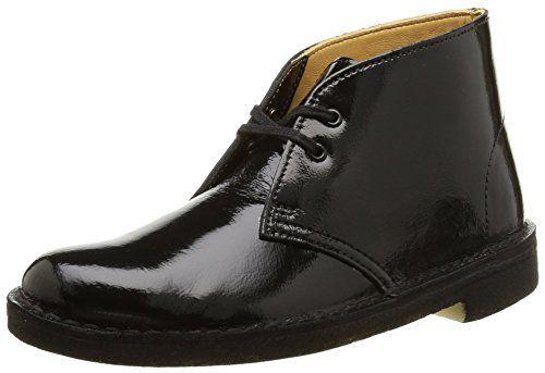 Clarks Originals Desert Boot, Damen Desert Boots, Braun (Black Patent), 37