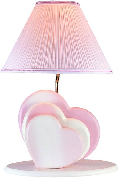 Heart Heart Lamp With Night Light Pink