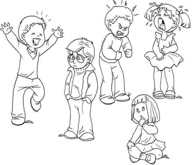 Dibujos De Emociones Y Sentimientos Para Imprimir Dibujos Para Colorear Coloreartv Com Imagenes De Emociones Las Emociones Para Ninos Emociones