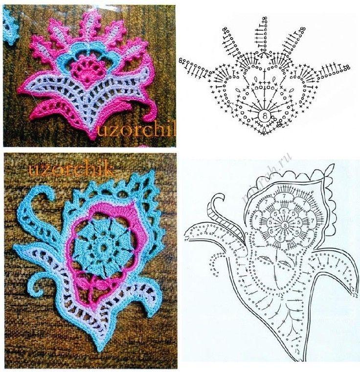 irish crochet freeform crochet motif