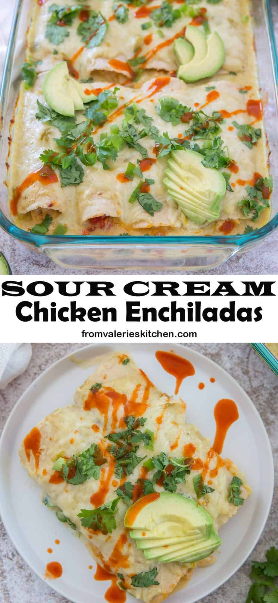 A Tasty Sour Cream Sauce Studded With Green Chiles And A Delicious Blend Of Spices Graces These Sour Cream In 2020 Sour Cream Chicken Mexican Food Recipes Food Dishes