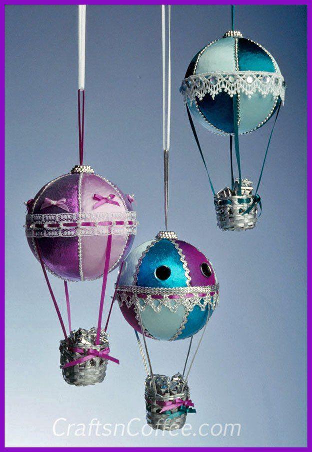 Diy Hot Air Balloon Christmas Ornament