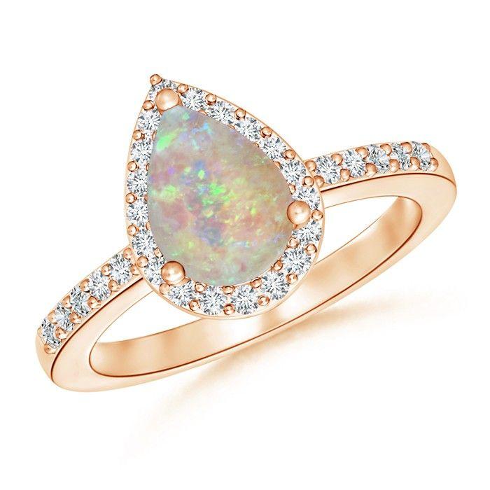Angara Morganite Cocktail Ring in 18k Rose Gold caleI4