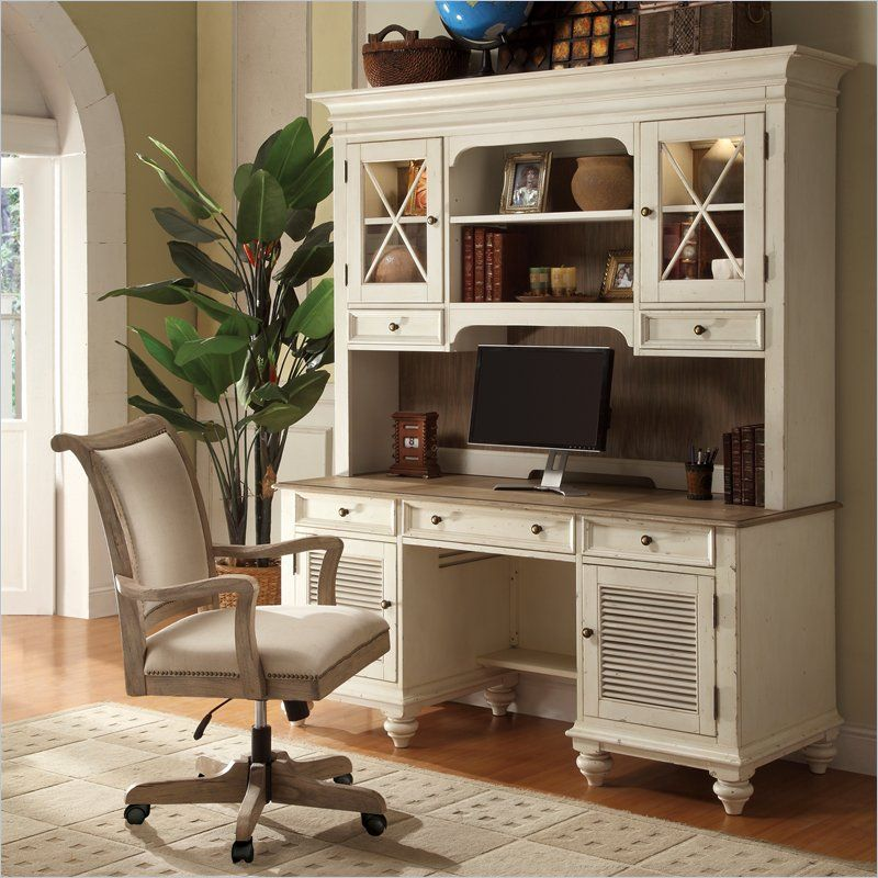 Riverside Furniture Coventry Two Tone Credenza Hutch In Dover White 32533 32536 Kit