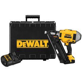 Shop Dewalt 20 Volt Cordless Nailer Battery Included At Lowes Com Framing Nailers Dewalt Combo Kit