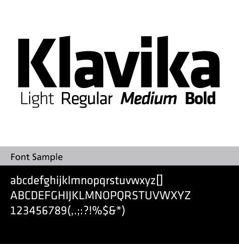 klavika basic-bold font