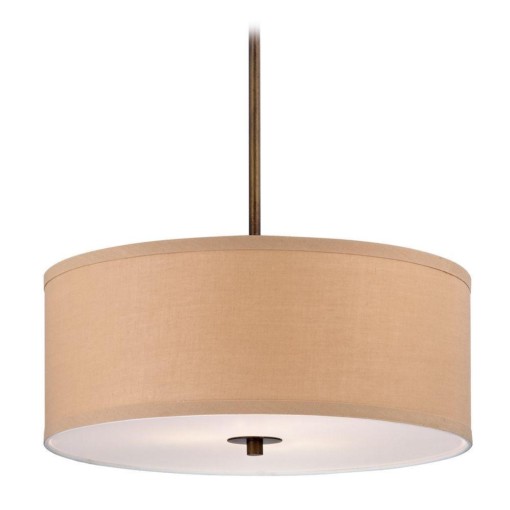 contemporary drum lighting. Design Classics Lighting Contemporary Drum Pendant Light With Gold Linen Shade DCL 6528-604 SH9463 N