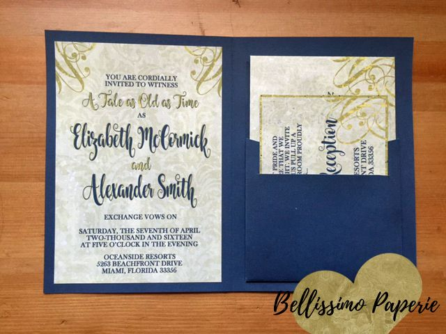Beauty And The Beast Book Style Wedding Invitation Set
