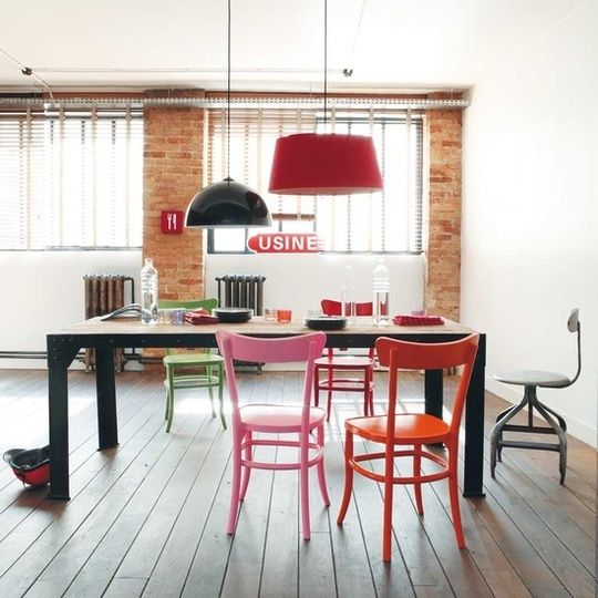 Paint Chairs Bold Colors To Update Dining Rooms Apartment Therapy