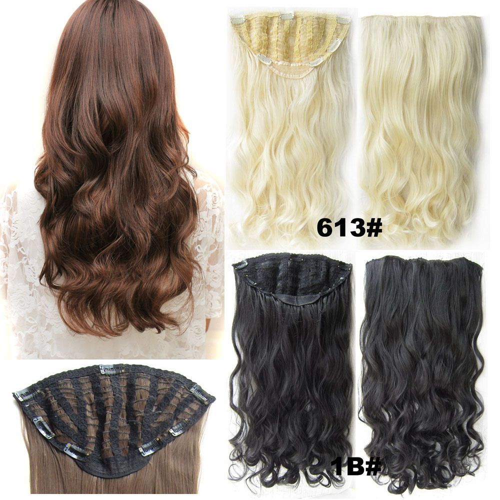 Big Piece 130g 24inch Wave 7clips In Hair Extensions Hairpieces