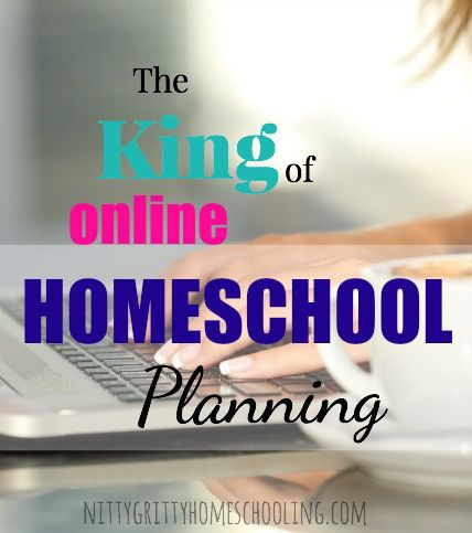 The King of Online Homeschool Planning pinnable