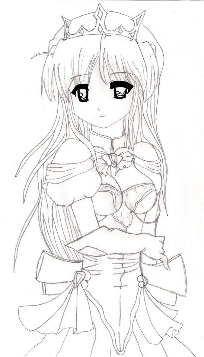 Anime princess drawings