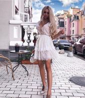 Short Wedding Lace Dress Short Party Dress Elegant Women Dress Simple Lace Dress White Evening Dress Bohemian Wedding Dress #085#BeautyBlog #MakeupOfTheDay #MakeupByMe #MakeupLife #MakeupTutorial #InstaMakeup #MakeupLover #Cosmetics #BeautyBasics #MakeupJunkie #InstaBeauty #ILoveMakeup #WakeUpAndMakeup #MakeupGuru #BeautyProducts #wedding dresses bohemio white lace