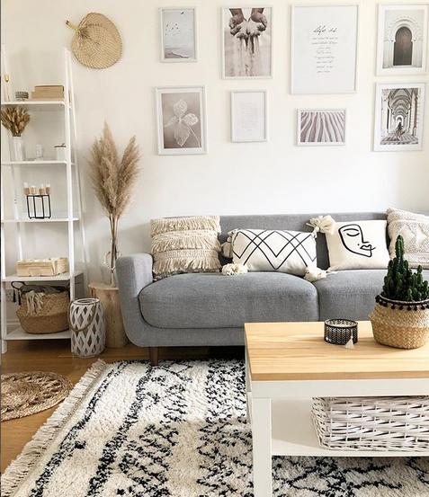 Photo of Scandi Living Room – Grey Sofa