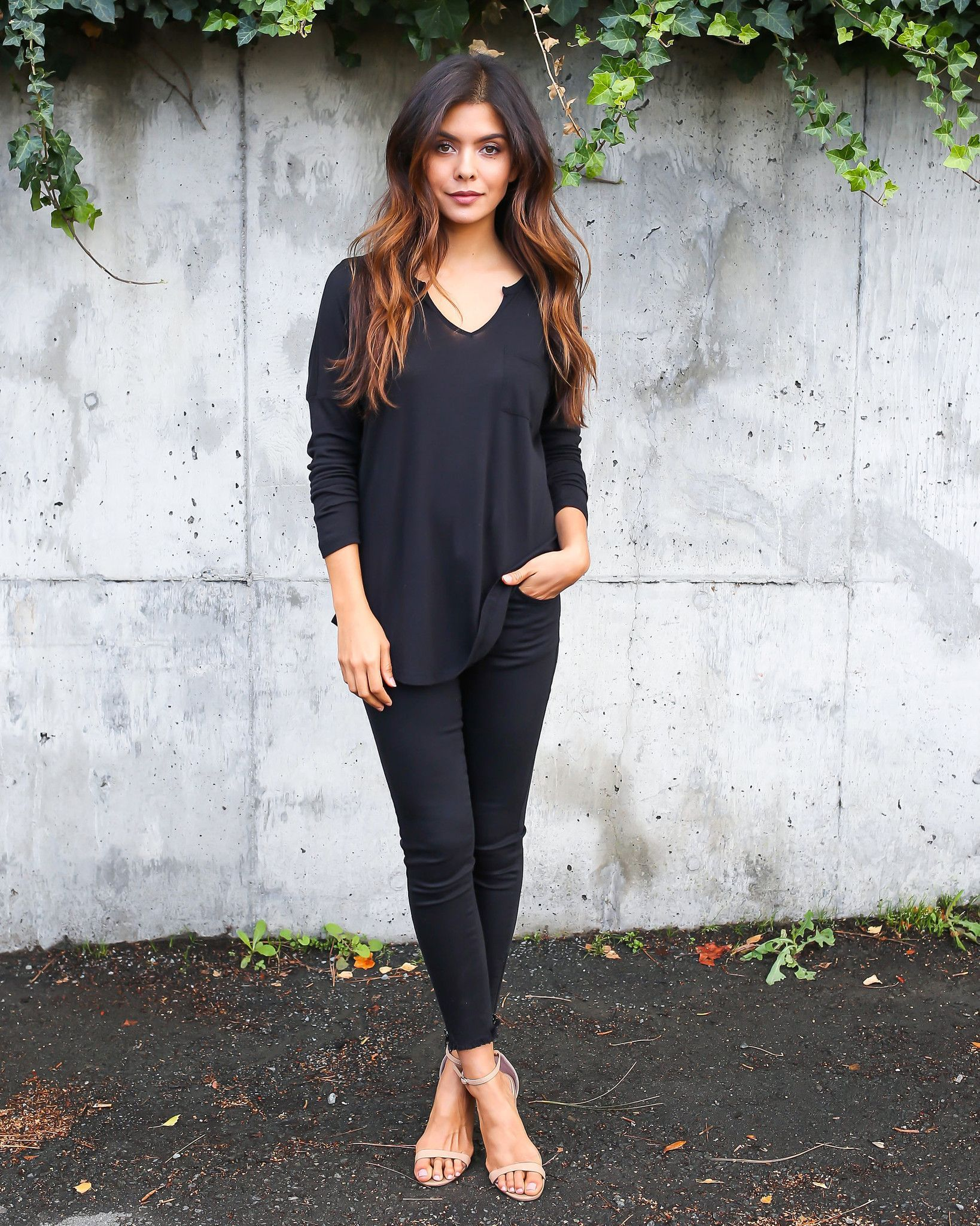 Alperton Long Sleeve Jersey Top - Black