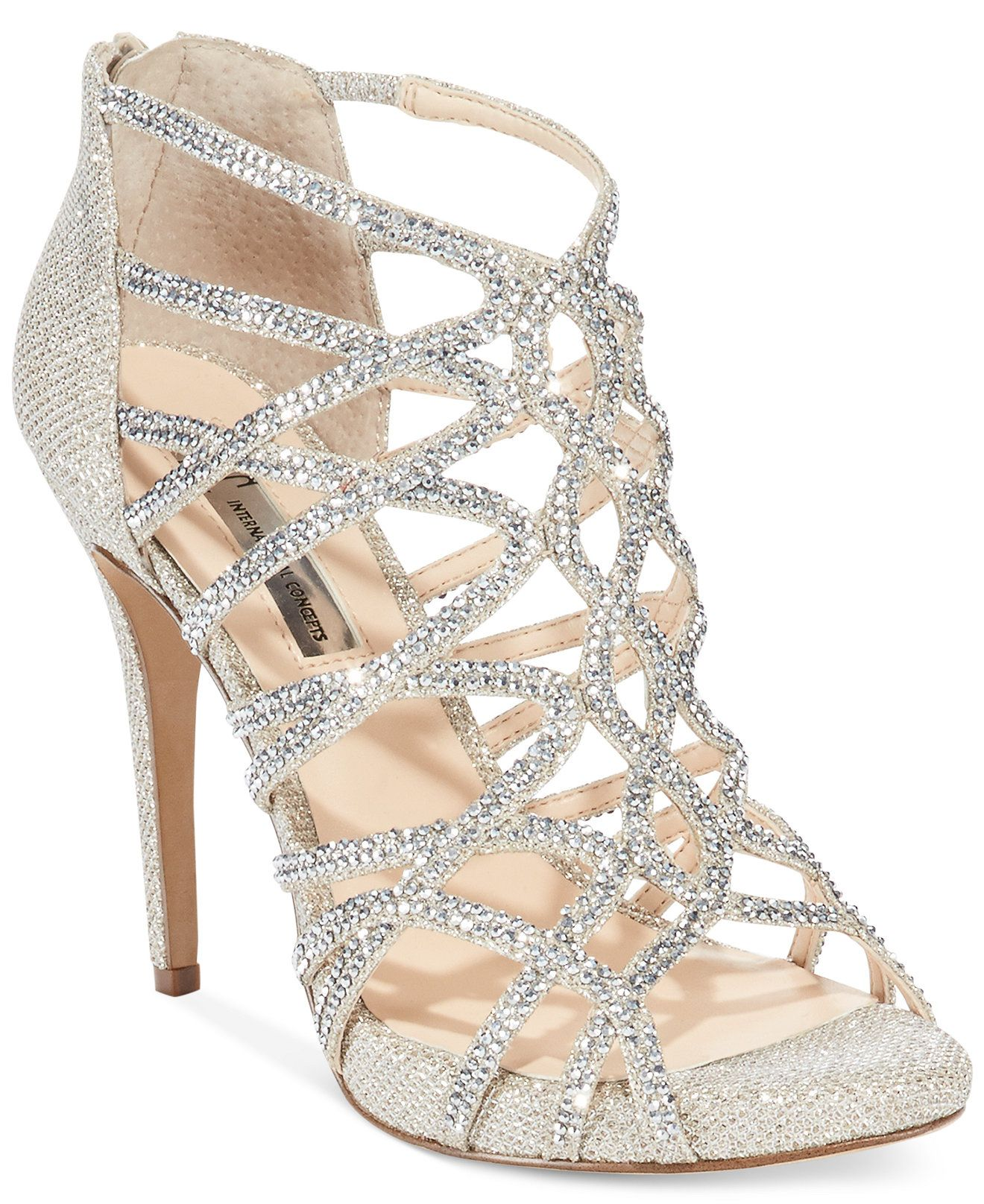 Flat rhinestone sandals for wedding - Inc International Concepts Women S Sharee High Heel Rhinestone Evening Sandals Sandals Shoes Macy S
