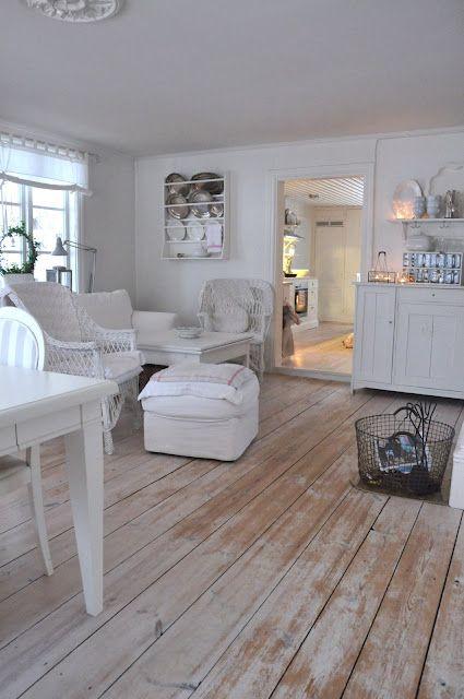Painted Wood Floors Cottage