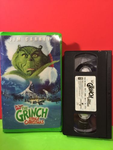 2001 dr seuss how the grinch stole christmas vhs movie jim carrey gift - How The Grinch Stole Christmas Vhs