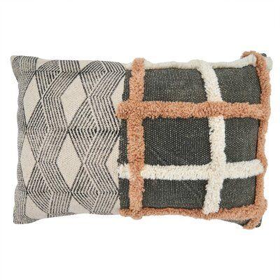 Bungalow Rose Junayd Cotton Geometric Lumbar Pillow Fill Material: Down