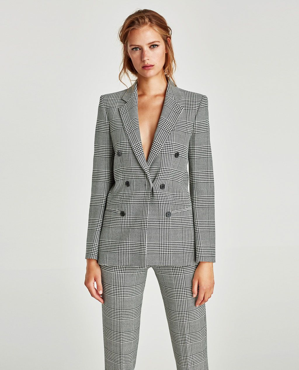 f71efed3 Image 2 of CHECKED DOUBLE-BREASTED JACKET from Zara | Editor Wish ...