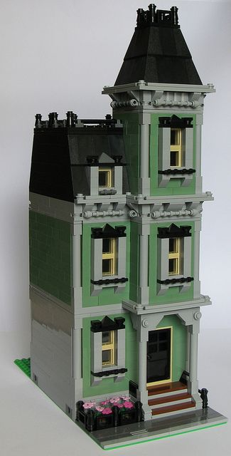 Mod Haunted House 16 Wide Wip Lego House Lego Design Lego
