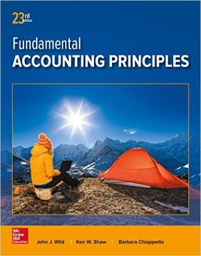 Fundamental accounting principles 23rd edition by john wild ken 23rd edition available now isbn 13 978 1259536359 ebookdownloadable pdf fandeluxe Gallery