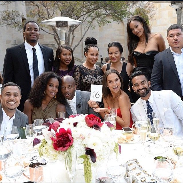 Lance Gross and Rebecca Jefferson had celebrities galore at their ...